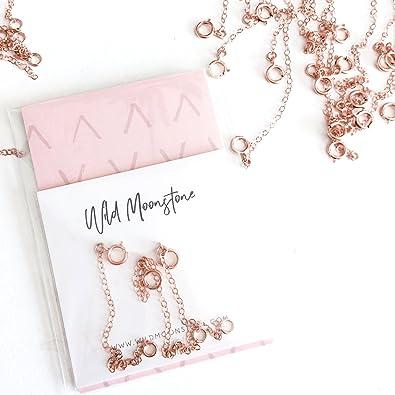 Amazoncom 14k Rose Gold Filled Necklace Bracelet Extender Chain