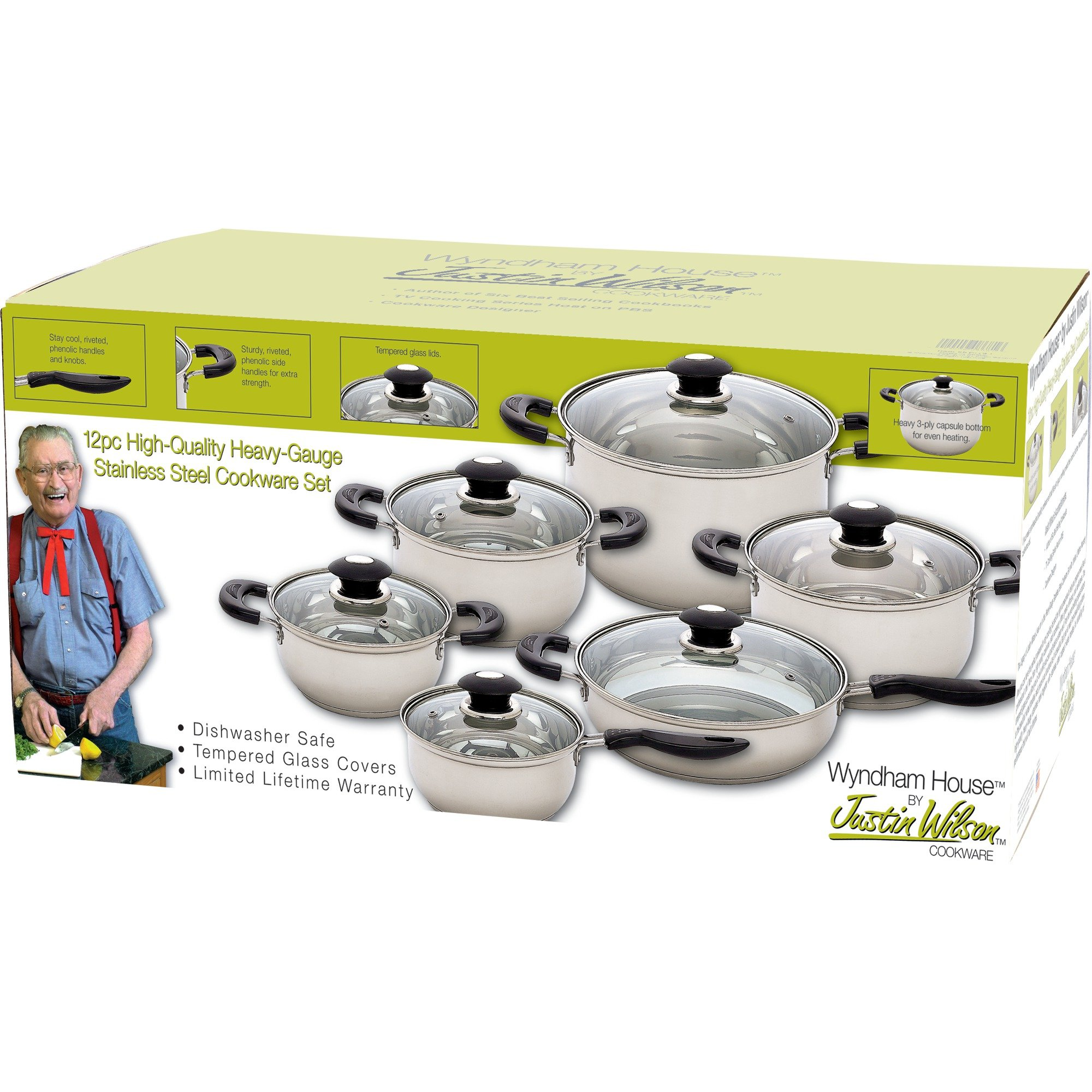 Wyndham House 12 Piece Stainless Steel Cookware Set