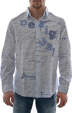 Desigual Branding Camisa, Skyway, XXL para Hombre: Amazon.es ...