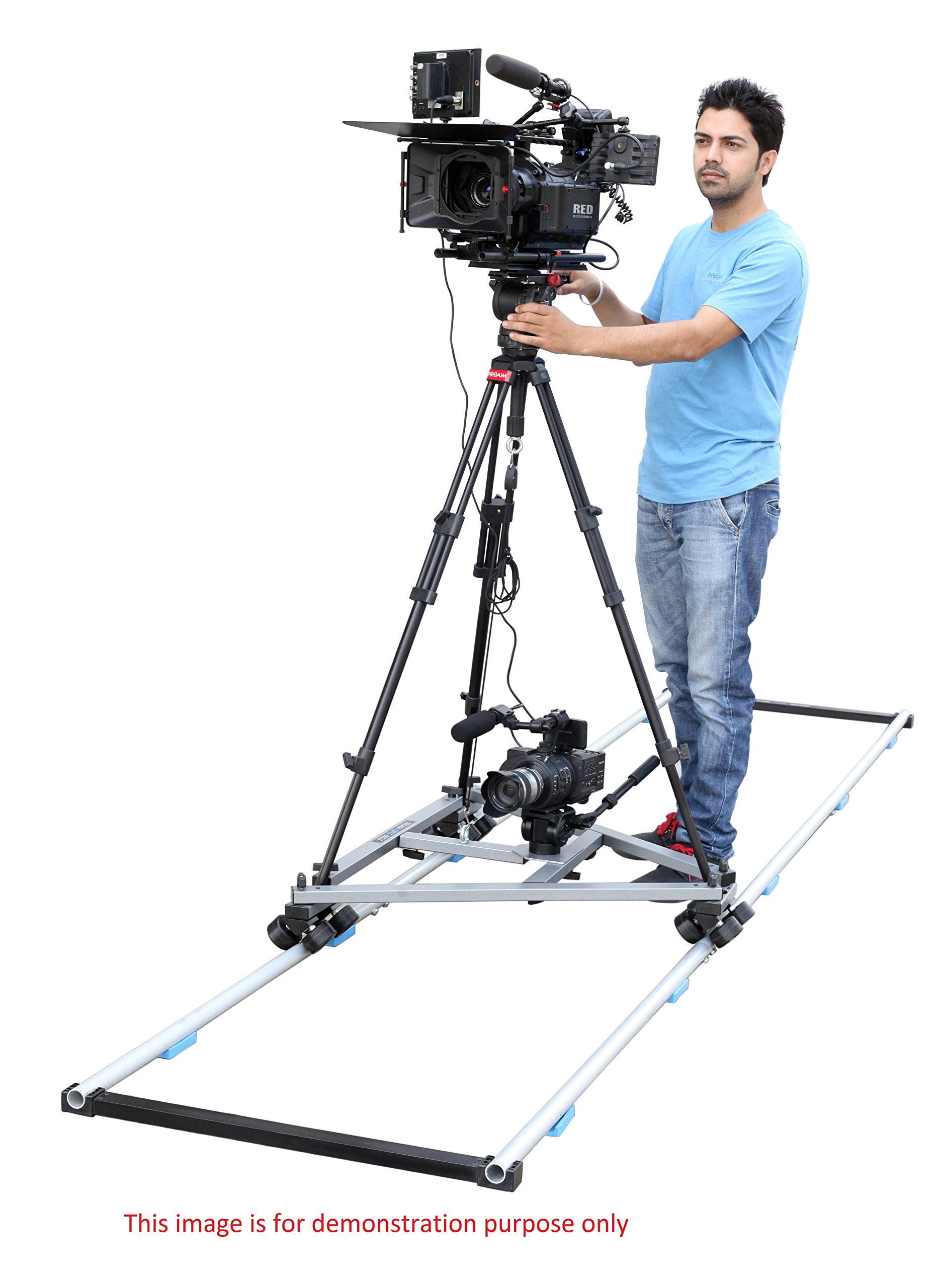 Proaim Swift Professional Heavy Duty Camera Tripod Dolly with Wheels for DSLR Video Photography Film (SWFT-DL) | Compatible with Track & Jib by PROAIM