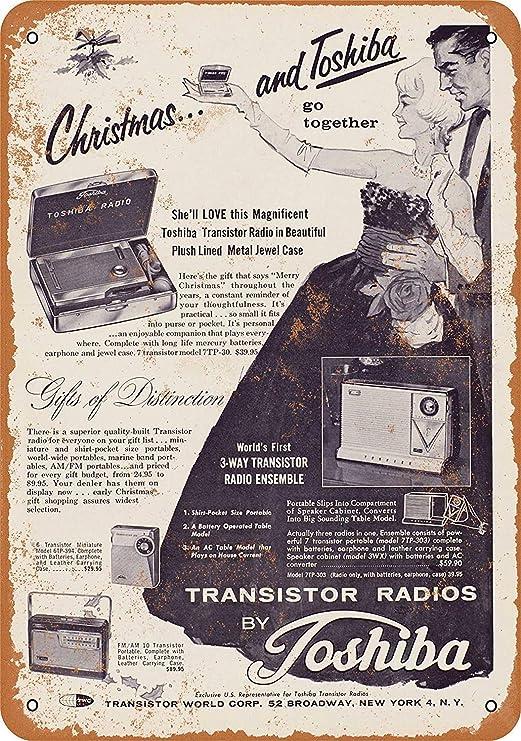 Kia Haop 1960 Toshiba Transistor Radios Metal Fender Cartel ...
