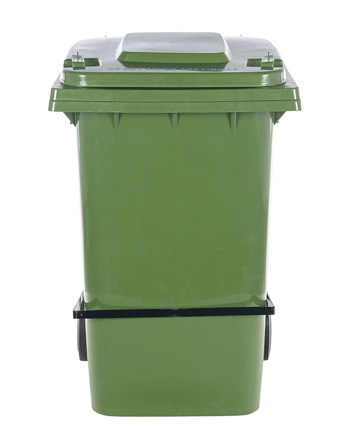 High Density Polyethylene HDPE 29-1//4 Depth 39.94 Height 28.5 Length 64 lb Vestil TH-64-GRN-FL Trash Can with Foot Lid Lift 23.31 Width Capacity Green