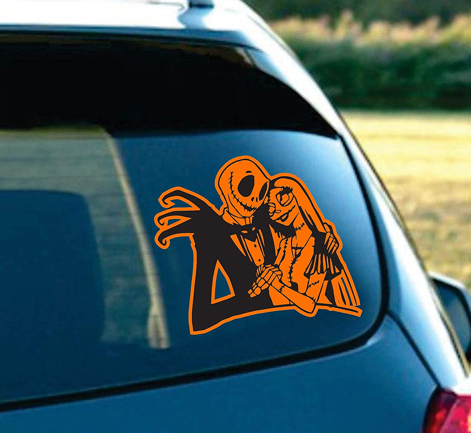 Amazon com la decal jack and sally skellington in love nightmare before christmas romantic scary halloween decal sticker car truck laptop macbook