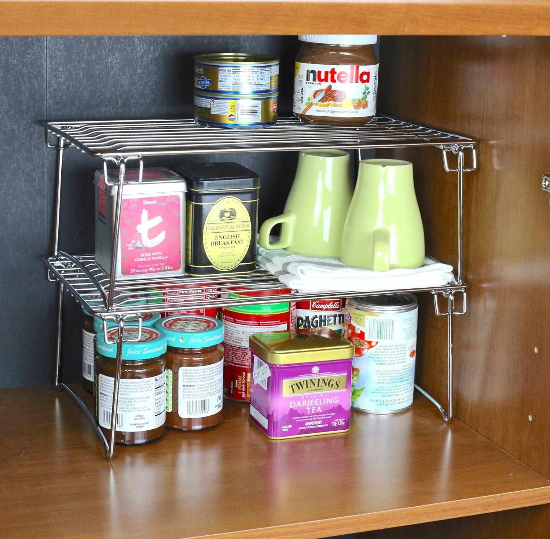 Amazon.com - 2 Pack - DecoBros Stackable Kitchen Cabinet Organizer ...