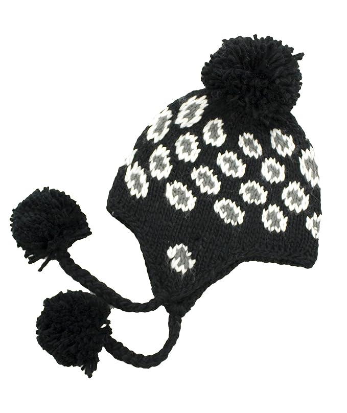 Handmade Crochet Beanie Hat Leopard Pattern Black (Made With 100 ...