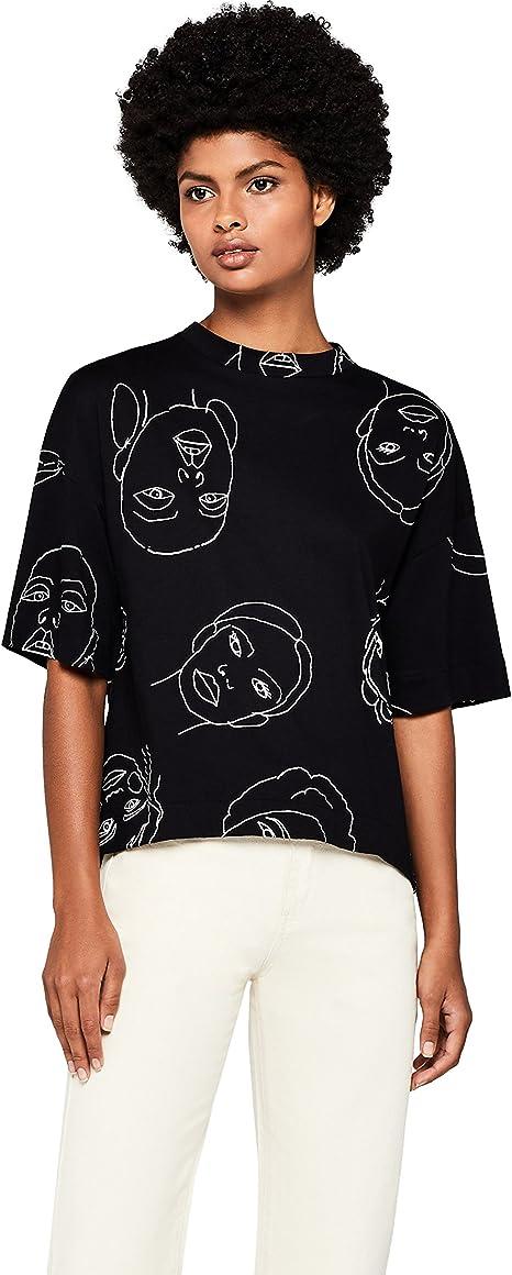 T-Shirt Girocollo con Stampa Donna Marchio find
