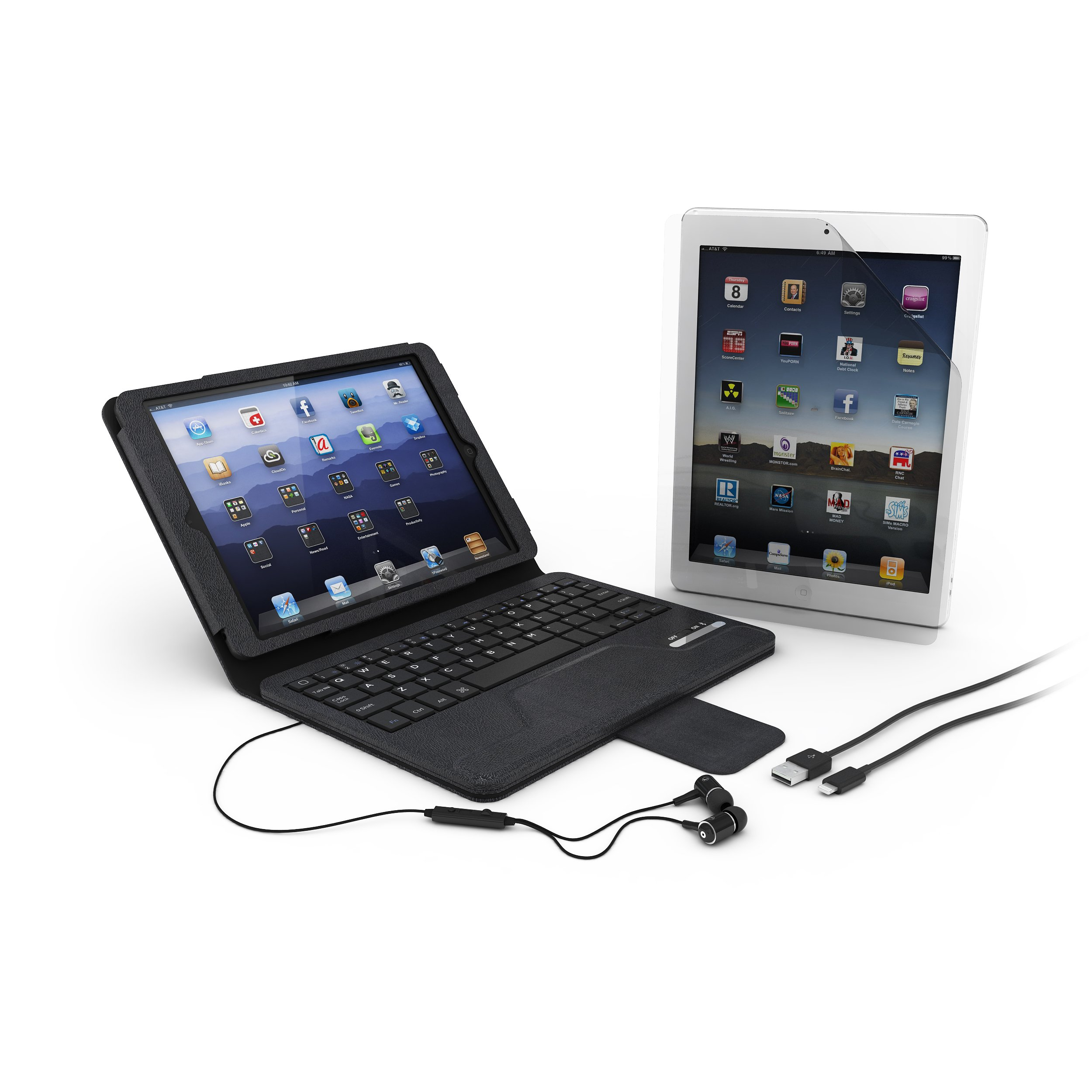 Hip Street iPad Air Essentials Bluetooth Keyboard Bundle (IPDAIR-BUN4) by Hipstreet