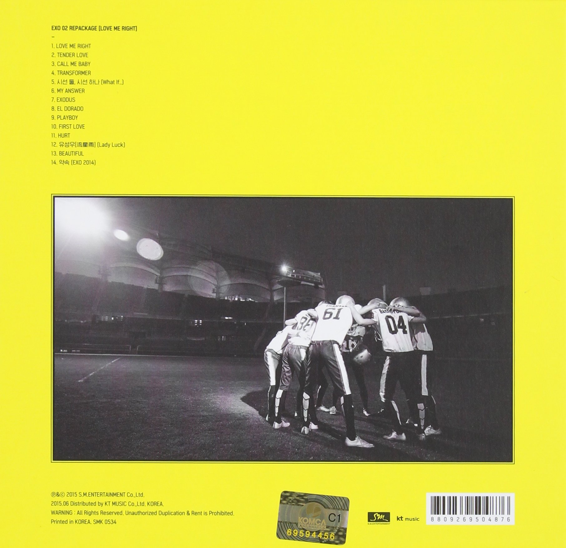 Love Me Right Vol.2 Korean Version by Sm Entertainmnet