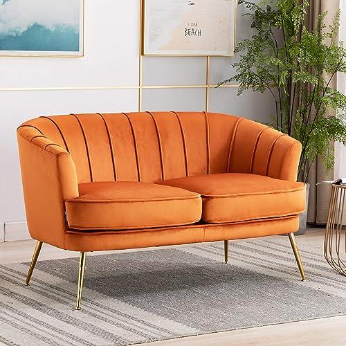 Artechworks Contemporary Velvet Loveseat Chair - the best living room sofa for the money