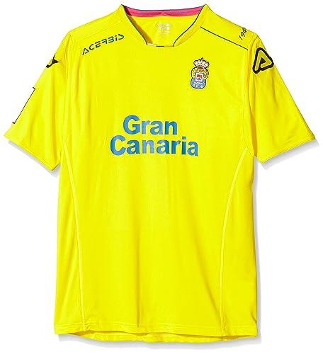 Acerbis 1º Equipación - Camiseta Unión Deportiva Las Palmas 2015/2016 unisex, color amarillo/azul, talla XL: Amazon.es: Zapatos y complementos