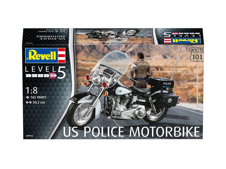 Revell 07915 - Maqueta de Motocicleta 1: 8 - US Police Motor ...