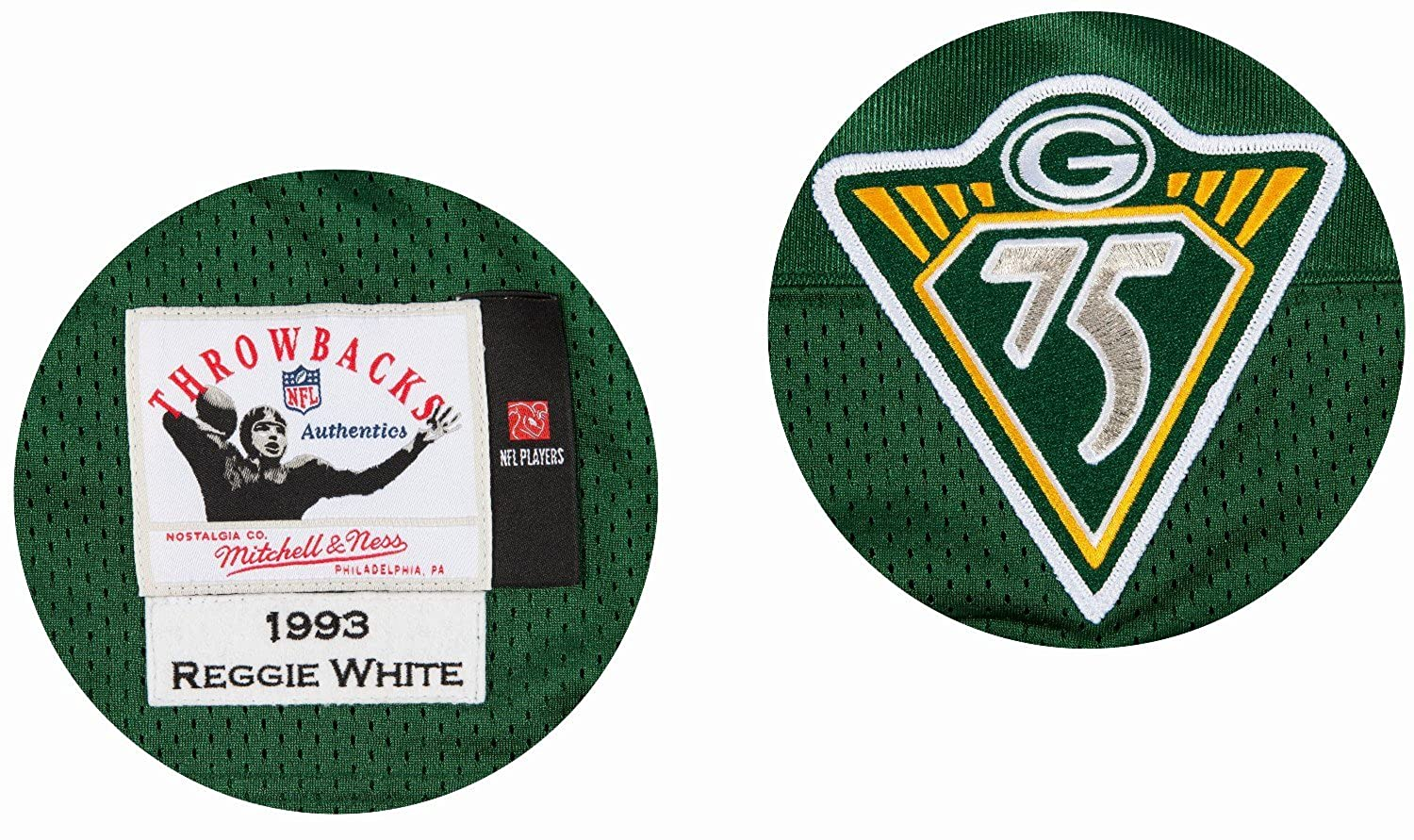 ff93553548c Amazon.com  Mitchell   Ness Reggie White Green Bay Packers Authentic 1993  Green NFL Jersey  Sports   Outdoors