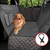 Vailge 100% Waterproof Dog Car Seat Covers, Dog Seat Cover with Side Flaps, Pet Seat Cover for Back Seat - Black, Hammock Con