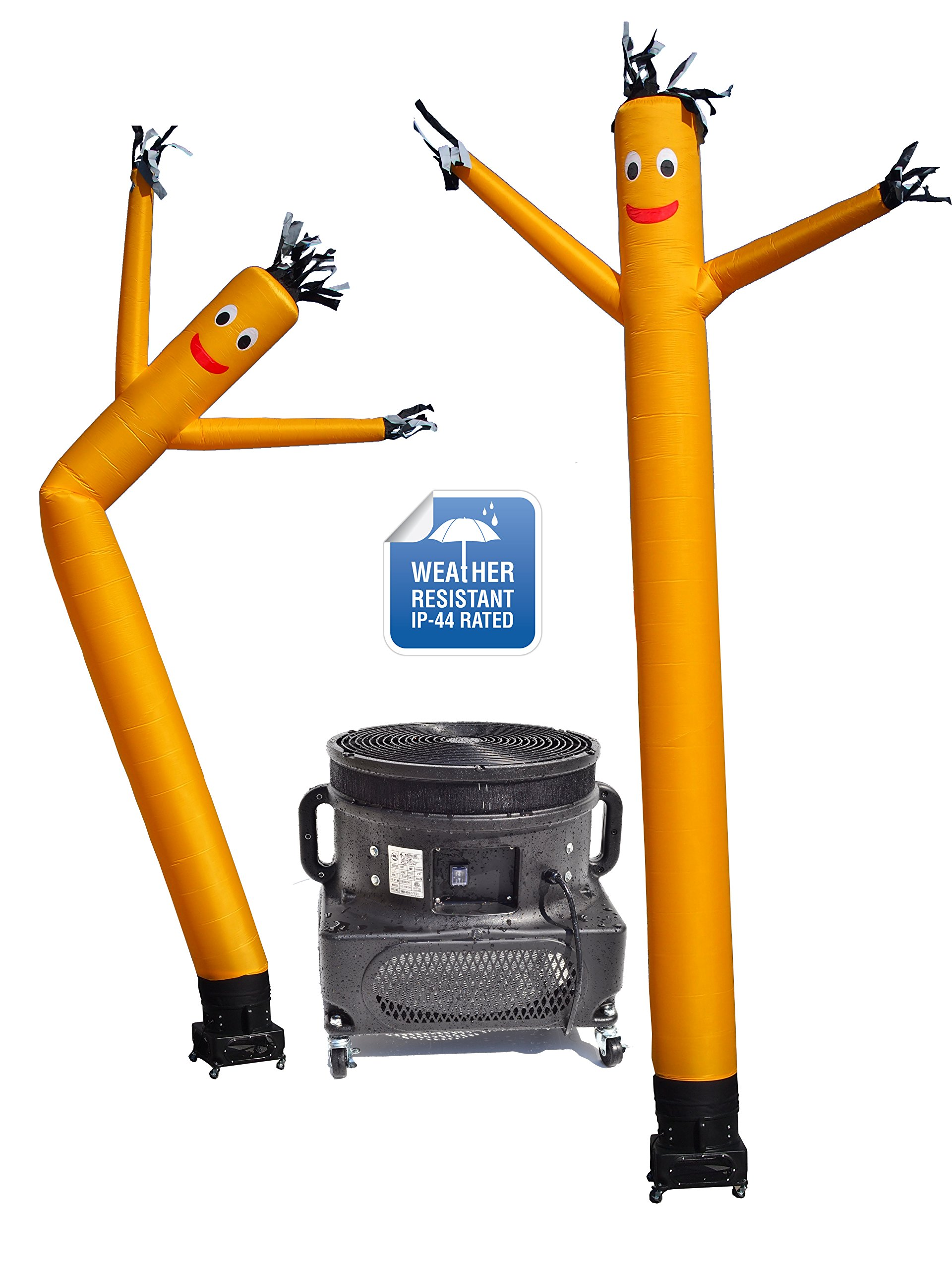 LookOurWay Air Dancers Inflatable Tube Man Complete Set with 1 HP Weather-Resistant Sky Dancer Blower, 20-Feet, Yellow