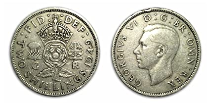 Collectable coins - 1949 Circulated Florin Two Shilling Two Bob Bit / UK /  Great Britain