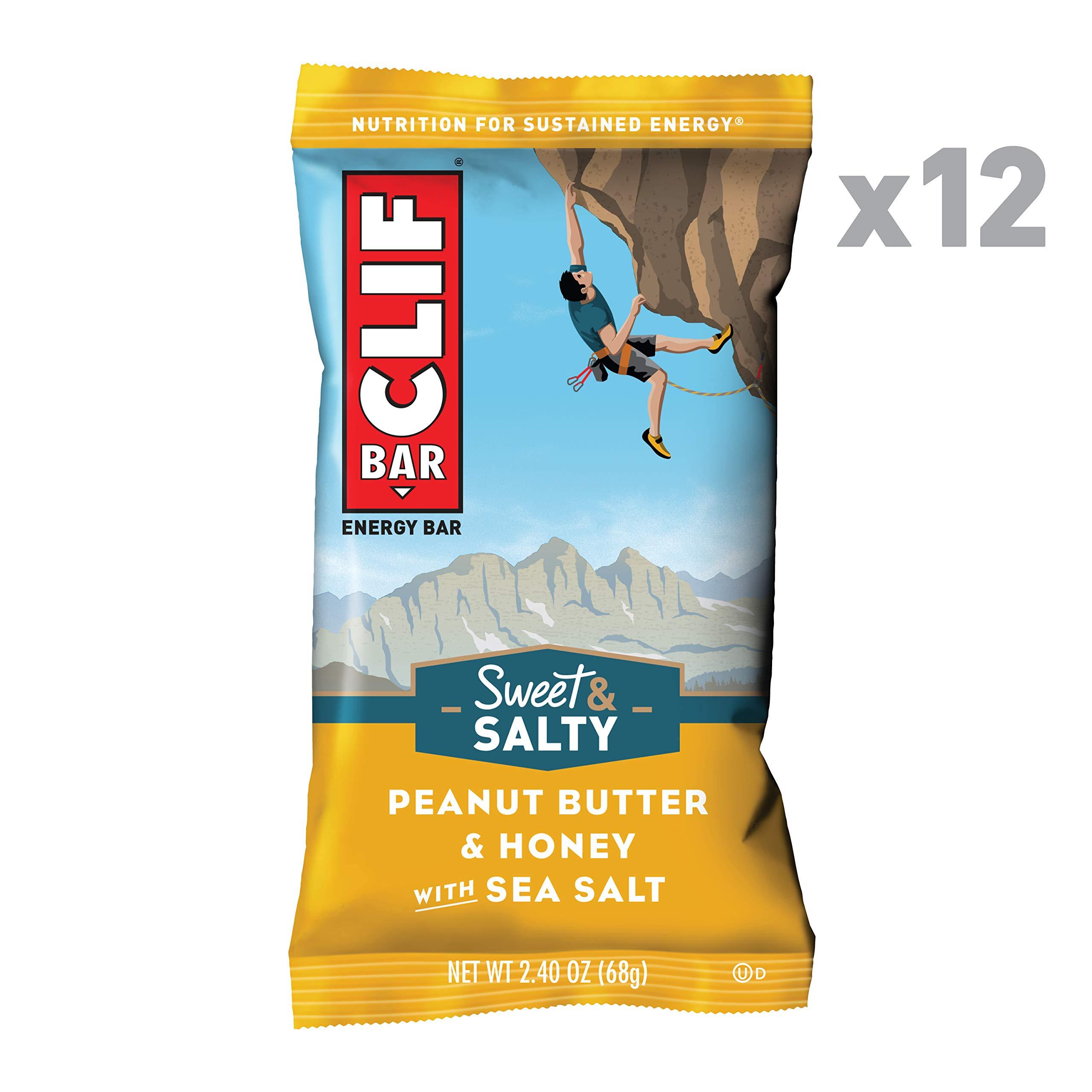 CLIF BAR - Sweet & Salty Energy Bars - Peanut Butter & Honey with Sea Salt - (2.4 Ounce Protein Bars, 12 Count) by Clif Bar