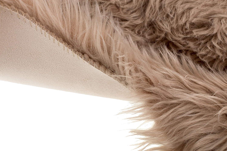 55 x 80 cm Taupe Brandsseller Kunstfell Fellteppich L/äufer Sessel/überwurf Schaffell-Optik Luxuri/öser Kunstfellteppiche