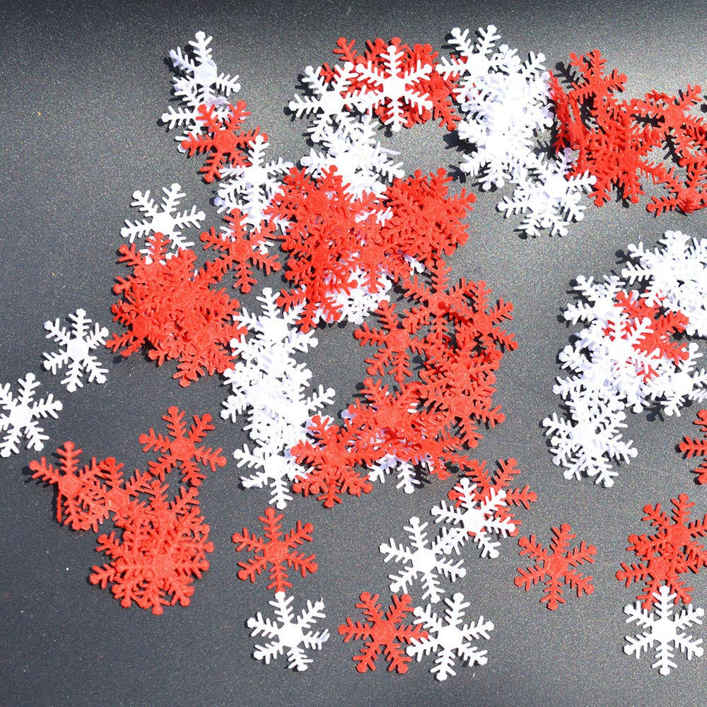 Christmas Tree Decorations Clearance,Jchen(TM) Merry Christmas 500Pcs Classic Snowflake Ornaments Christmas Tree Holiday Party Home Decor (C)
