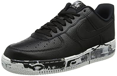 promo code 708ee e2c03 Nike Mens Air Force 1 Low LV8 Marble Basketball Shoes Black Summit White  AJ9507-