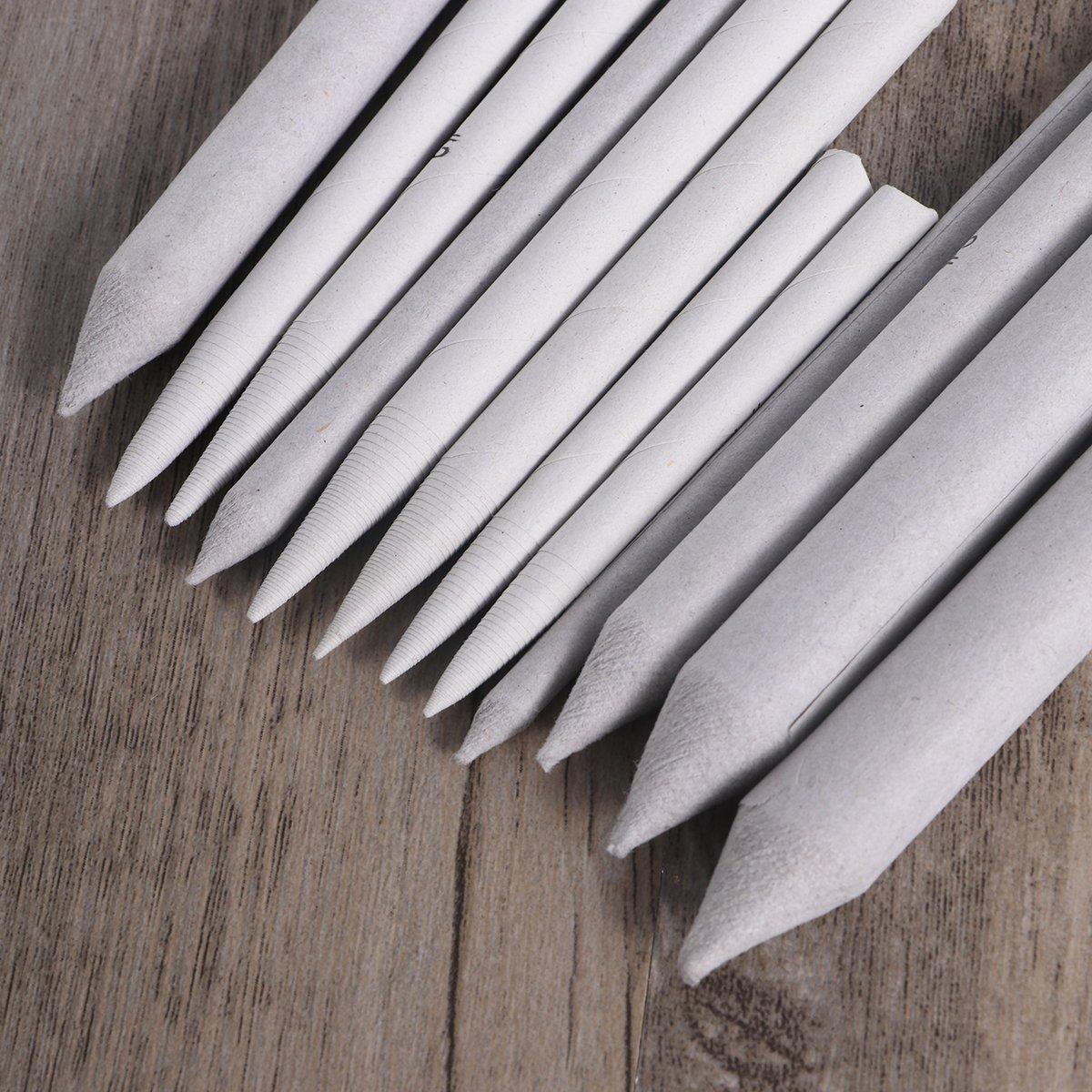 2 Pcs Sandpaper Pencil Sharpener Susuntas 21pcs Paper Blending Stumps and Tortillions Set Art Blenders One Pencil Extension Tool Art Blenders Drawing Accessories Set for Student Sketch Drawing