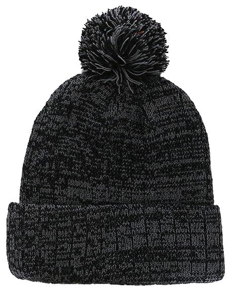 Amazon.com   Grey Black Unisex Men Women Boy Plain Beanie Knit Ski ... 84a3330f27f