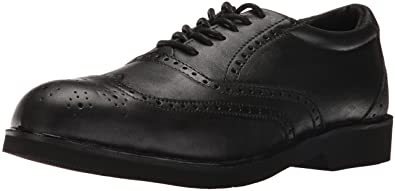 Rockport Mens Black Leather Wing Tip Oxfords Dressports Steel Toe 7 W