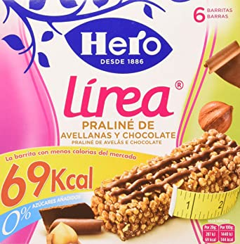 Hero Línea Barritas Praliné de Avellanas con Chocolate con Solo 69 ...