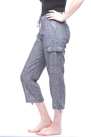Missy Women's Linen Capri pants at Amazon Women's Clothing store: