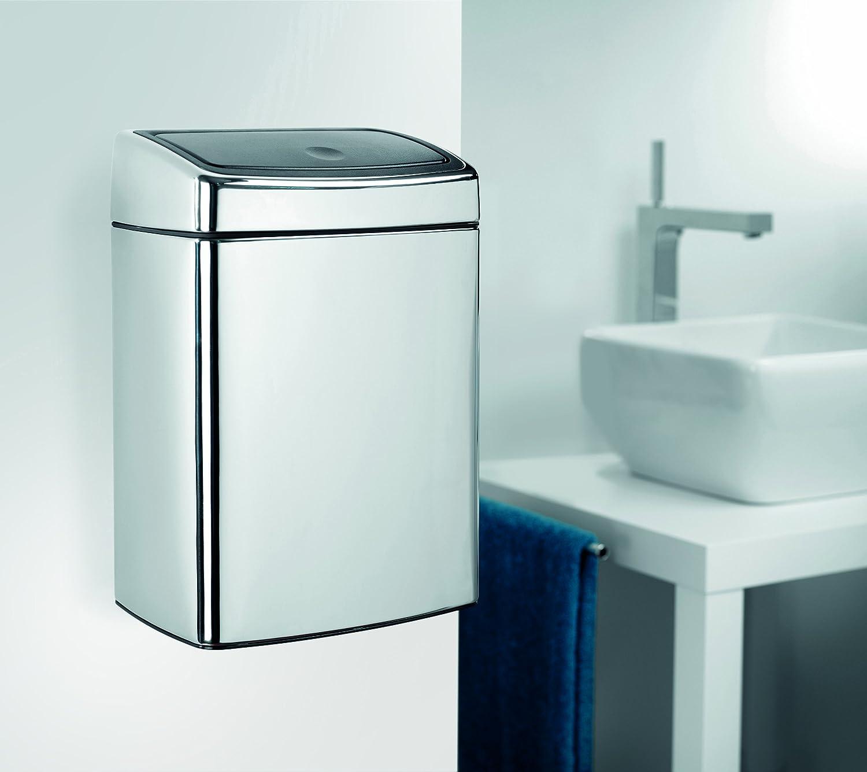 Brabantia Rectangular Touch Bin, 10 L - Brilliant Steel: Amazon.co ...