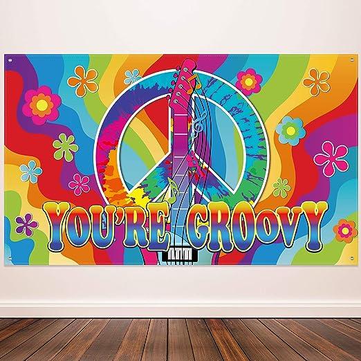 Amazon.com: Decoración de fiesta temática de los 60, cartel ...
