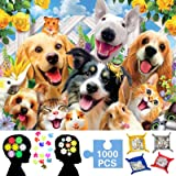 Dog Jigsaw Puzzles | 1000 Pieces Puzzles for Adults Kids | Family Decorations Pattern Toy DIY Wall Art Home Decor | a…