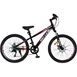 Upten Unisex Adult Legend Bicycle - Black & Red, 24 Inch