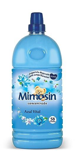 Mimosín Azul Vital, Suavizante Concentrado para la Ropa, 58 lavados - 1.334 L