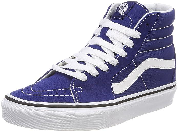 Vans Sk8-hi Schuhe Unisex-Erwachsene Leder u. Textil blau
