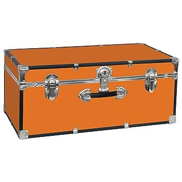 Charming Seward Trunk College Dorm And Camp Storage Footlocker Trunk, Orange,  30 Inch (