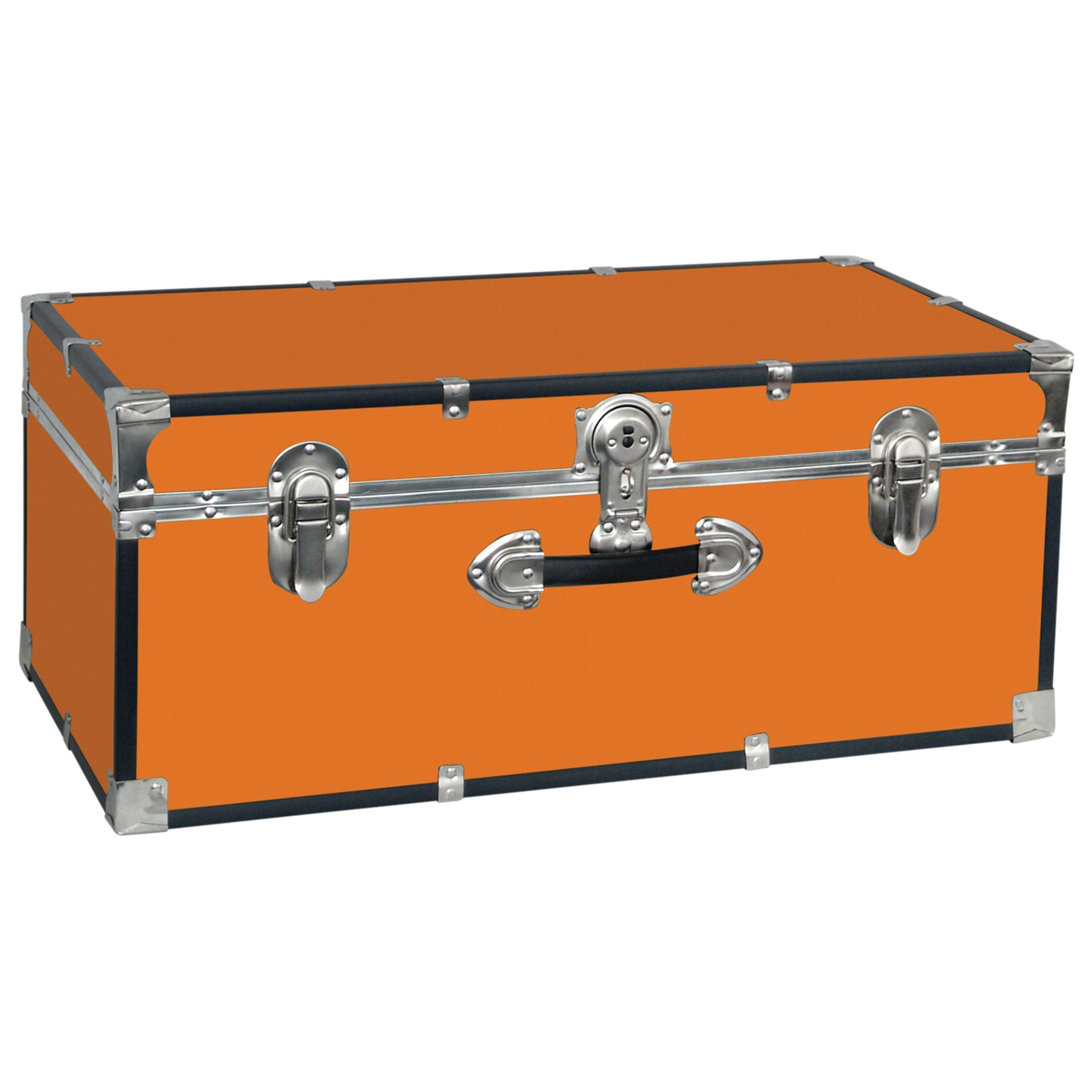 Seward Trunk College Dorm and Camp Storage Footlocker Trunk, Orange, 30-Inch (SWD5120-20)