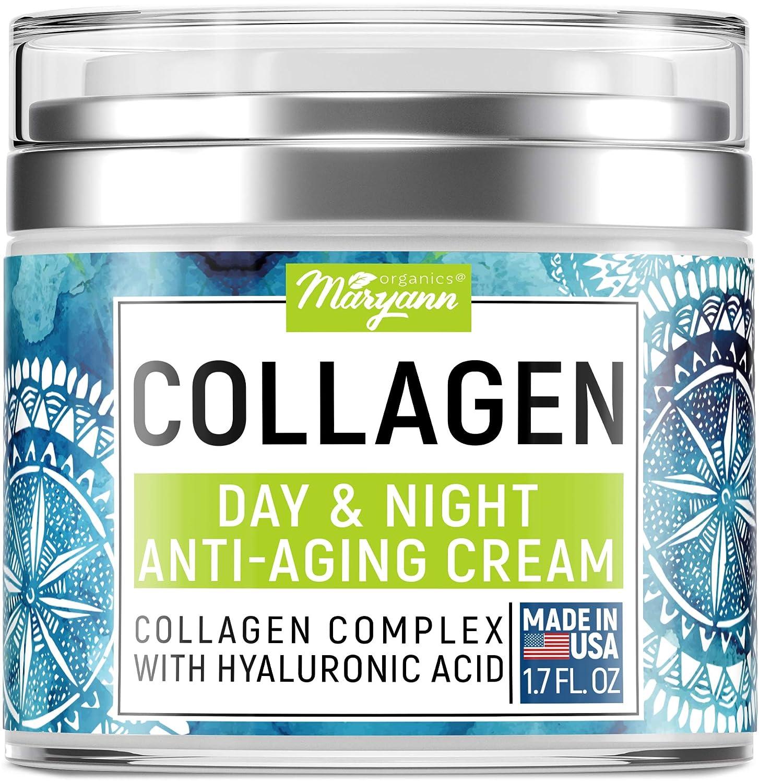 Maryann Organics Collagen Cream - Anti-ageing Face Moisturizer - Day & Night