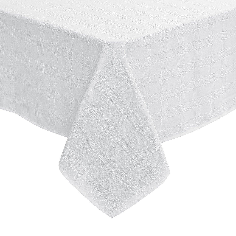 Deconovo Tischtücher Tischdecke Tischwäsche 130x220 cm Karo Creme