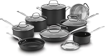 Cuisinart 66-14N 14-Piece Chef's Classic Non-Stick Hard Anodized Cookware Set