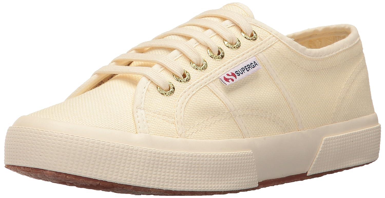 Superga Women's 2750 Cotu Sneaker B0721PPKF8 37.5 M EU / 7 B(M) US|Ivory/Gold