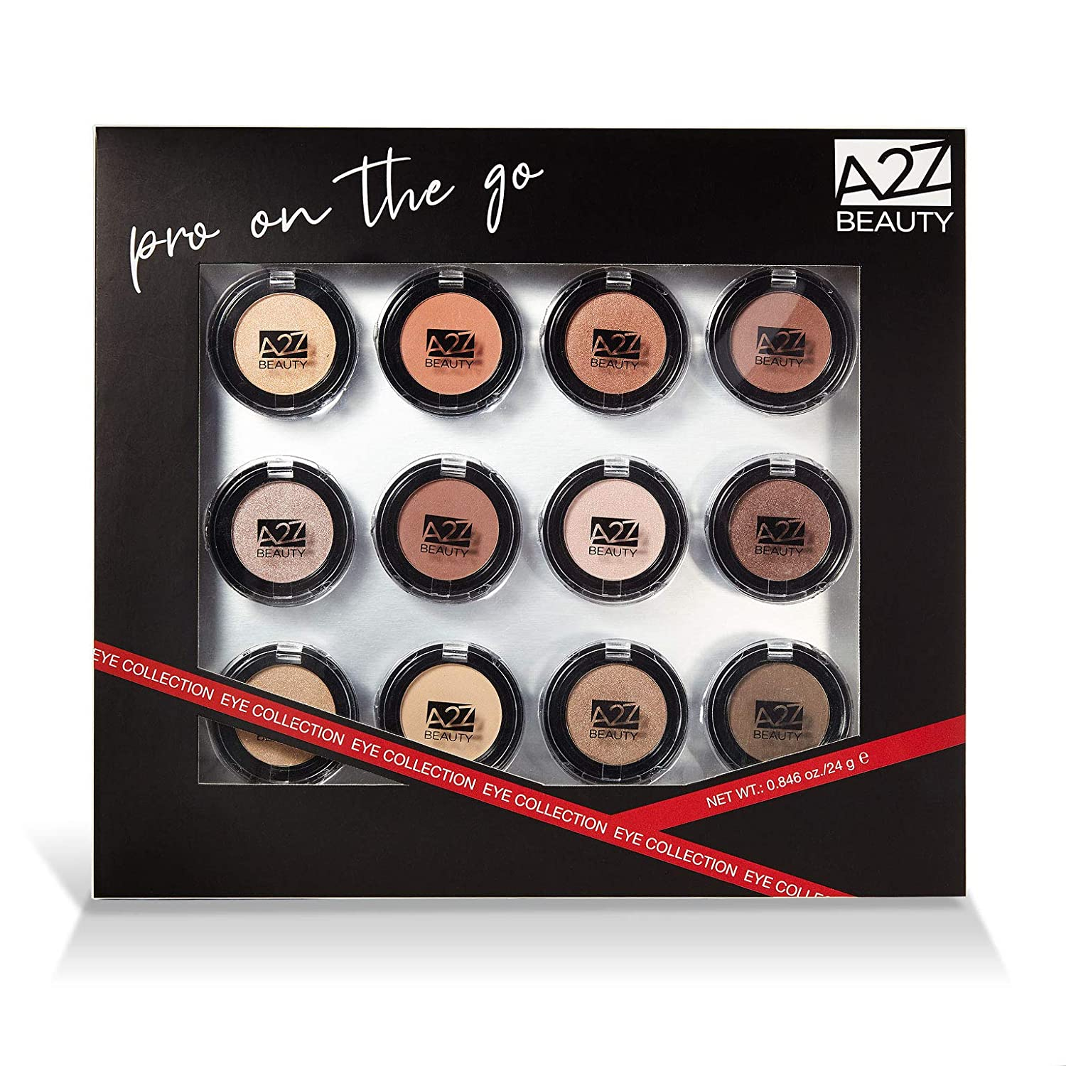 A2Z Beauty Beauty Pro On The Go Eyeshadow Collection, 12 Count
