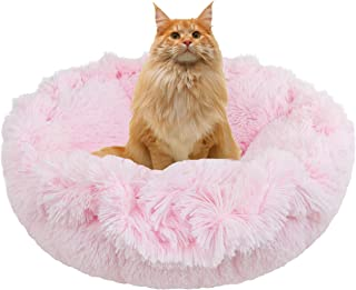 product image for BESSIE AND BARNIE Ultra Plush Bubble Gum Luxury Shag Deluxe Dog/Pet Cuddle Pod Bed