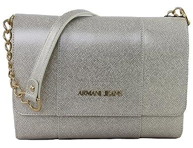 c1d5e5272e2ce Armani Jeans Tasche Umhängetasche Clutch Bag 922188 platinum  Amazon ...