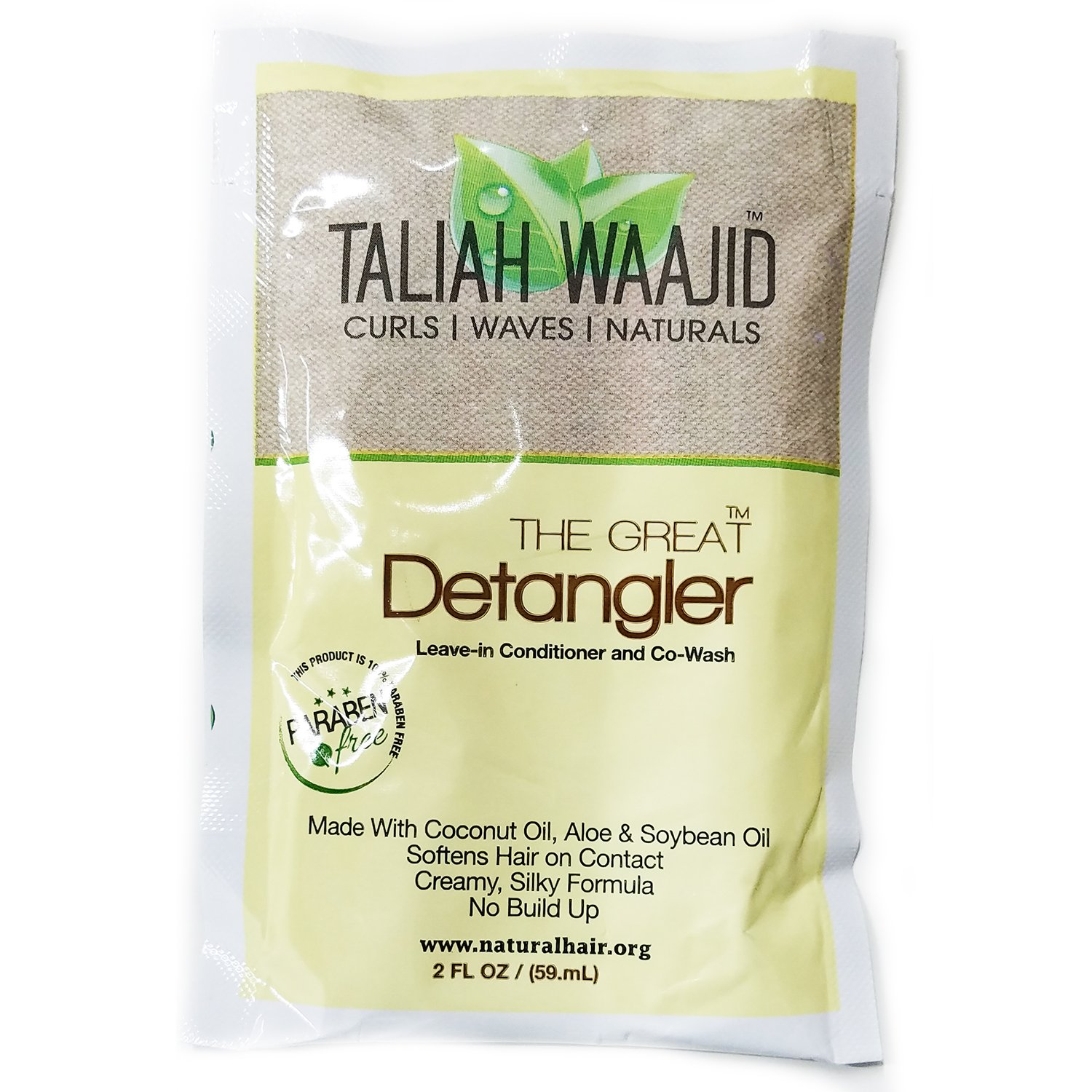 Taliah Waajid The Great Detangler Leave-in Conditioner and Co-Wash, 2 Ounce (3 Pack)