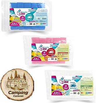 CleaningBox® CaravanWipes - Toallitas húmedas 5 en 1 para camping y caravanas, accesorios para caravanas y caravanas, biodegradables y fabricados en ...