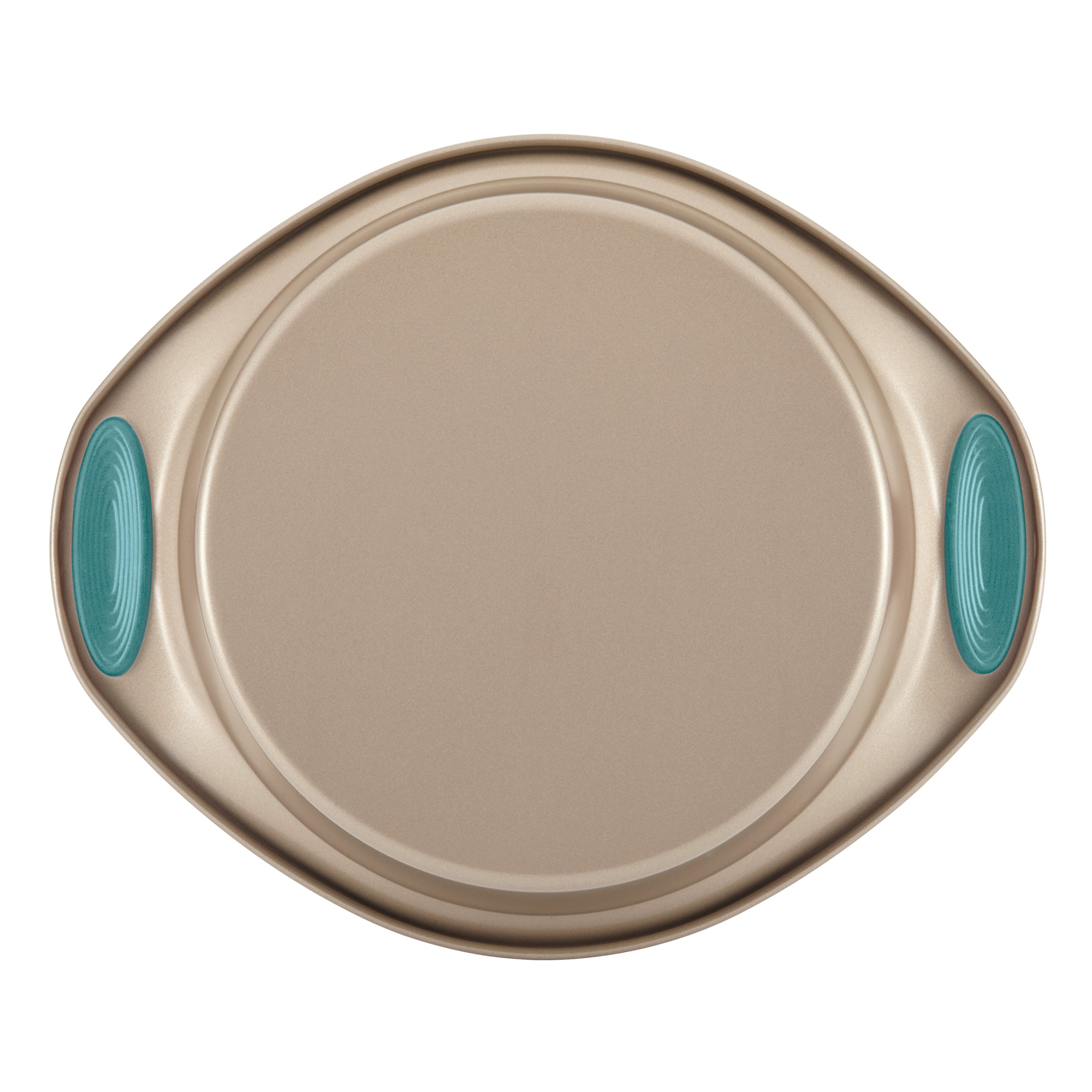 Rachael Ray Nonstick Bakeware 5-Piece Set, Latte Brown with Agave Blue Handle Grips by Rachael Ray (Image #5)