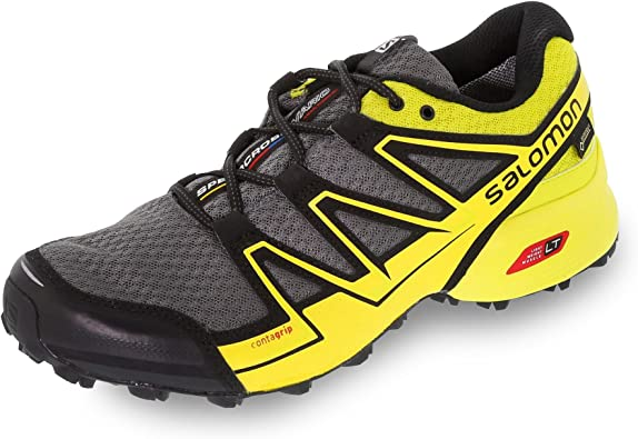 Salomon L39054700, Zapatillas de Trail Running para Hombre, Gris (Dark Cloud/Gecko Green/Alpha Yellow), 46 EU: Amazon.es: Zapatos y complementos