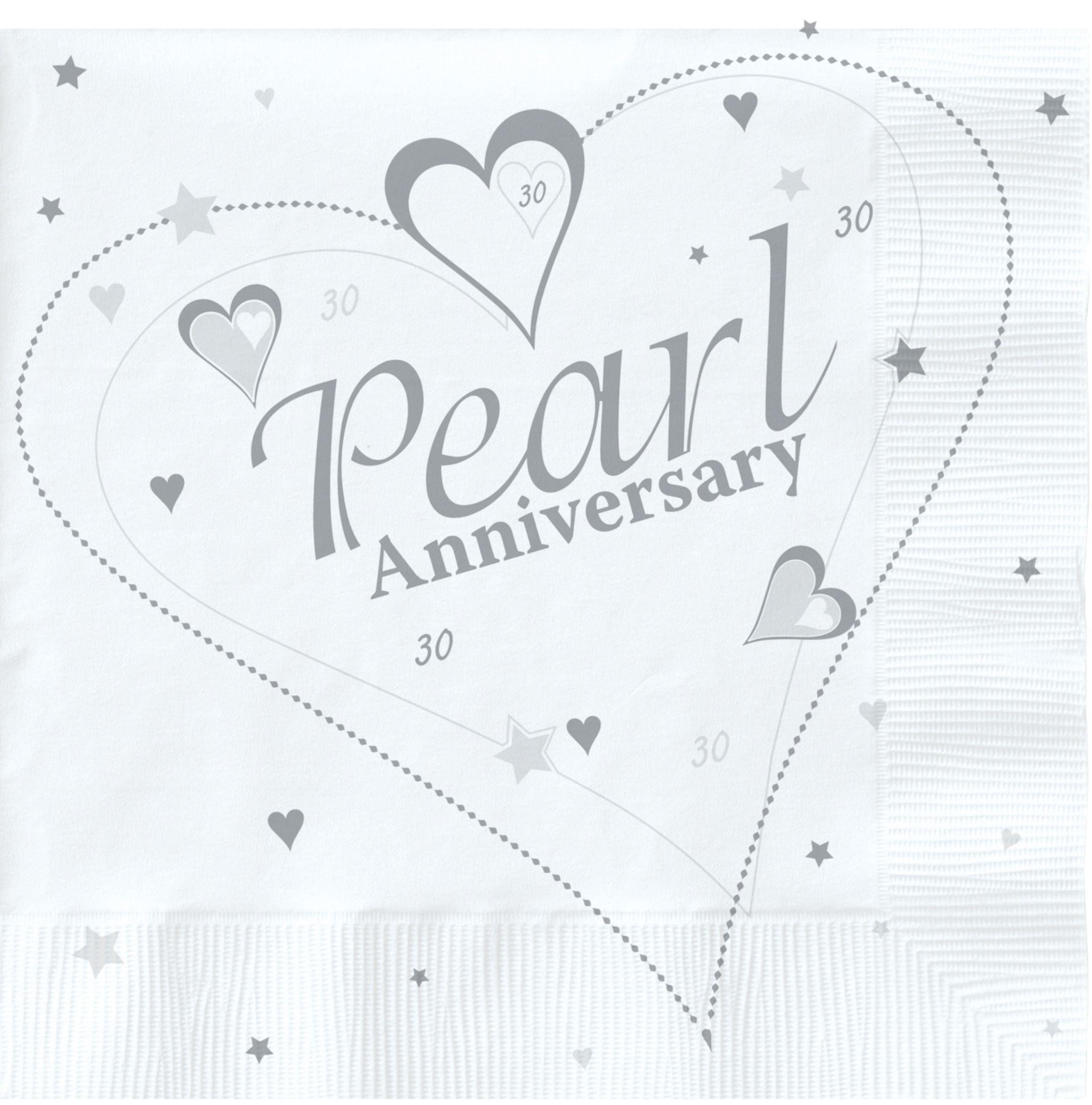 Amazon Silver White Pearl 30th Wedding Anniversary Banner