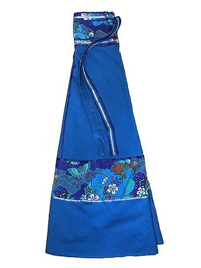ufash Falda Cruzada - Falda Maxi de la India, con Lazos, Azul ...