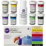 Kit di 8 coloranti alimentari Wilton + EXTRA: Bianco